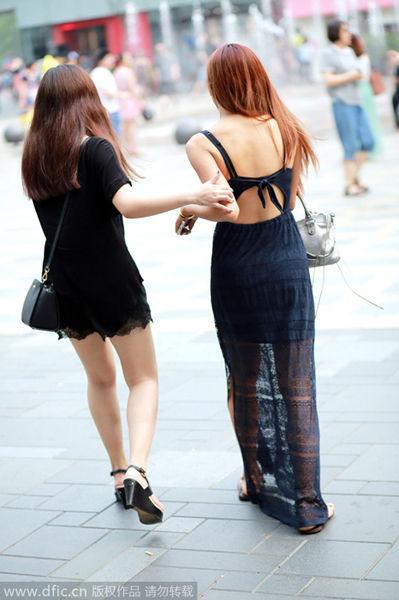 街拍:北京美女最多的地方