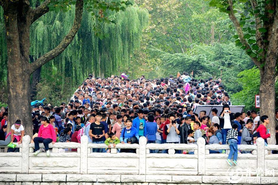 十月一日的济南市动物园.