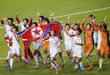 朝鲜女足3-1日本 夺亚运冠军成功复仇