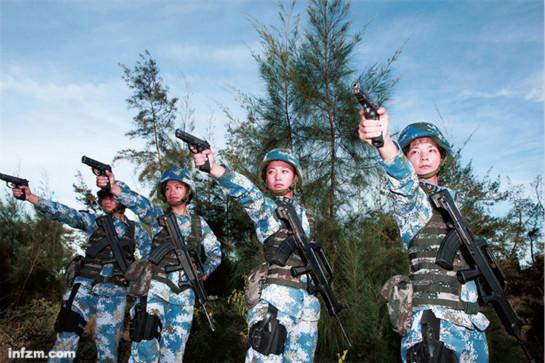 揭秘中国新生代女兵:首先是军人 其次才是女人图片