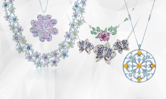 小清新必备 9款淡雅的花朵造型项链