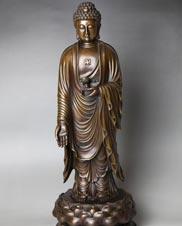 纯铜阿弥陀佛像摆件