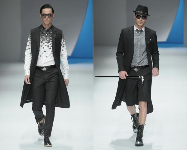 时装  刘勇时装发布 设计师刘勇本季的灵感来自于当代人对于天空的