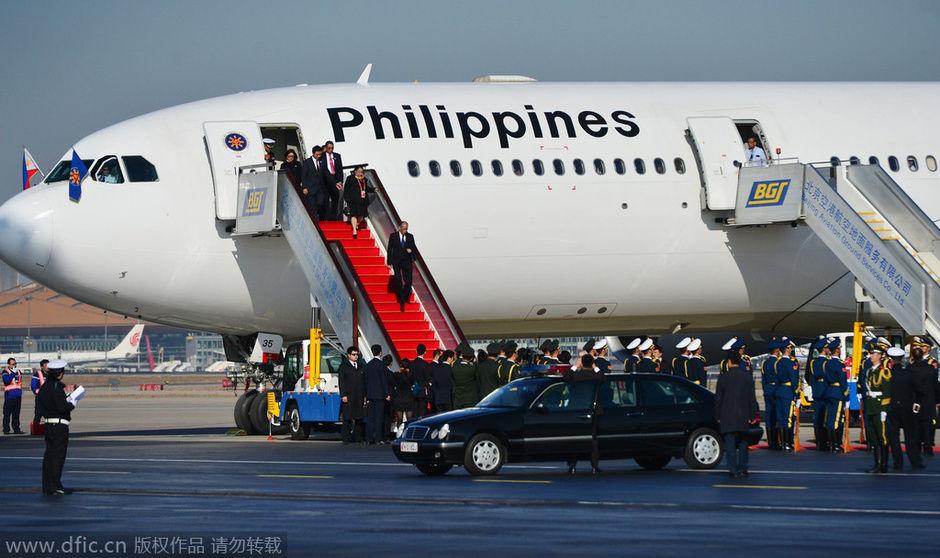 APEC各国领导人专机图片