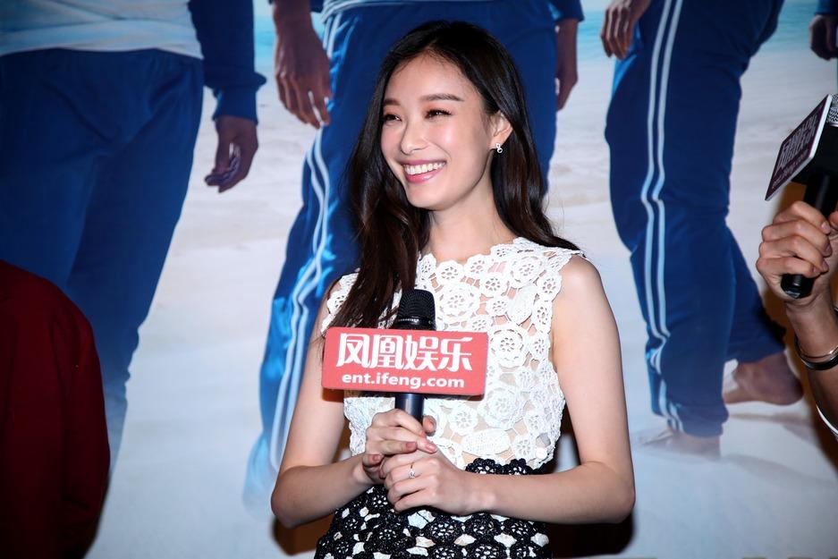 倪妮出席凤凰公映礼:我为《匆匆那年》练了八块腹肌