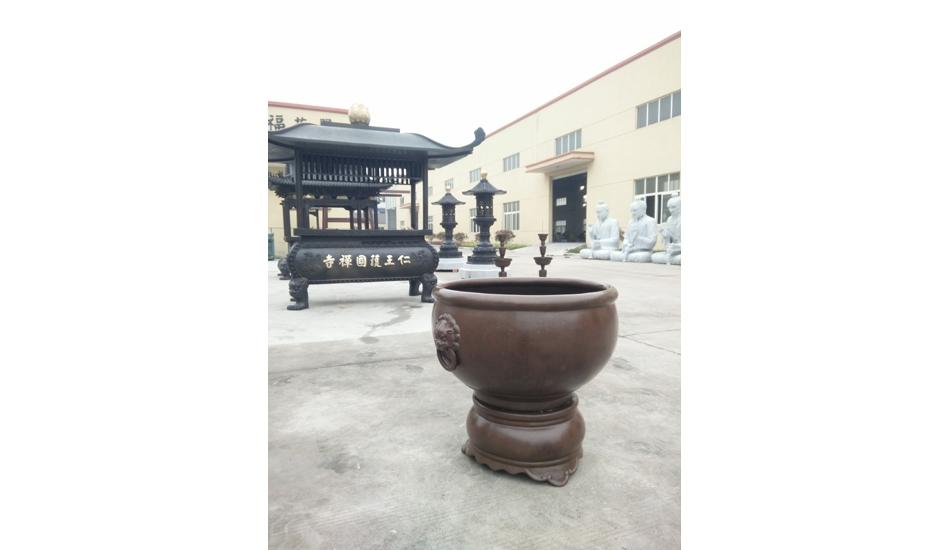 作品名称:百福风水铜缸