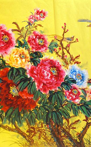 国画:《花开富贵》