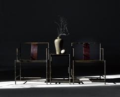孔武小:守中.竹节铜椅