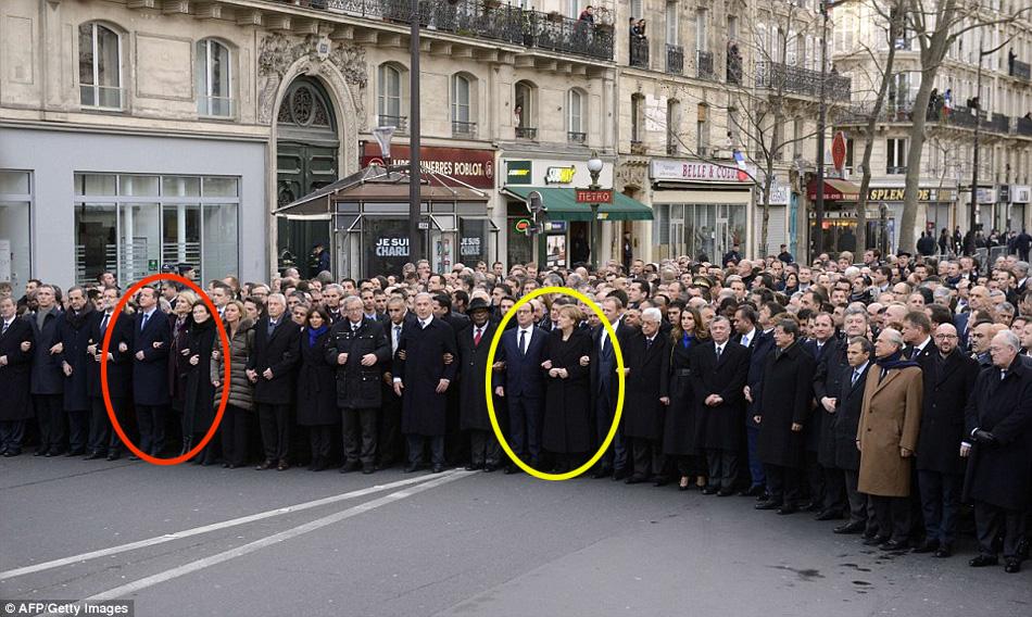法国举行反恐大游行现场 (图片) - 和蔼一郎 - 和蔼一郎