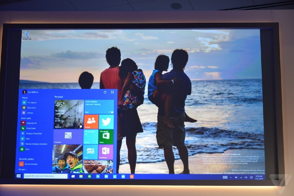 微软正式发布Win10:打通全平台搭载全息影像技术