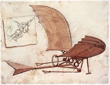 达芬奇与扑翼机:他是航空科学研究的第一人v航空招标图纸图片