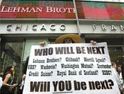 美国雷曼兄弟公司倒闭 金融海啸席卷全球