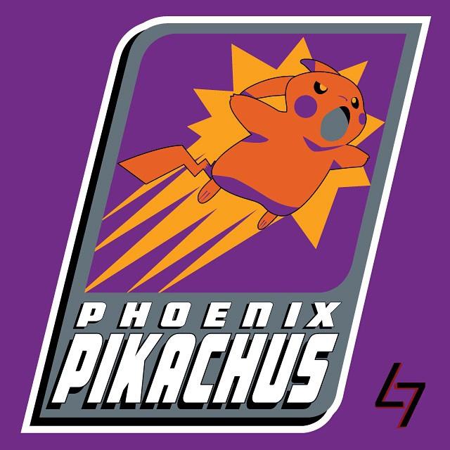 网上流传了一组NBA球队logo的动漫版本,太阳的队标变为宠物小图片