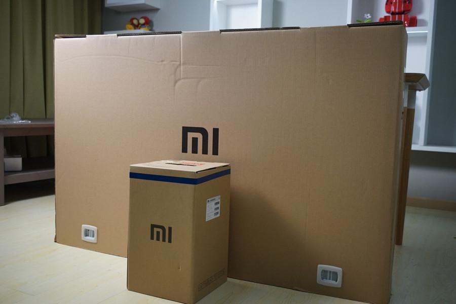55寸4K小米电视2开箱图赏:超窄金属边框