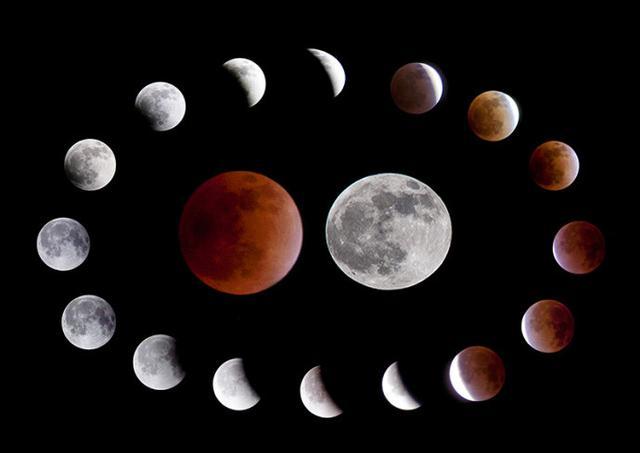 """今晚可赏月全食:""""红月亮""""持续12分钟"""