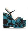 MIU MIU坡跟防水台凉鞋 无需细高跟也有女人味