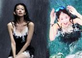 林志玲穿吊带裙坐瀑布前求雨 网友呼唤萧敬腾