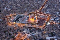 数万穆斯林集体朝圣场面