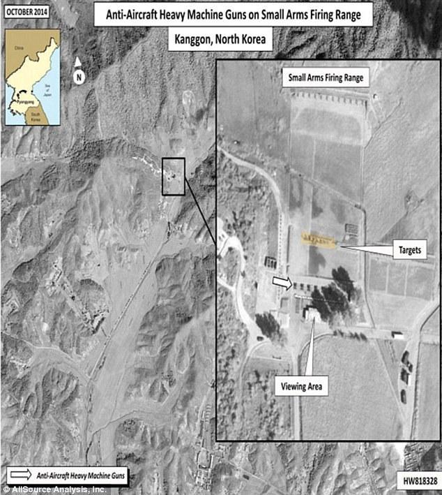 训练场拍摄到了朝鲜进行公开处决的照片.朝军使用高射炮射杀多图片