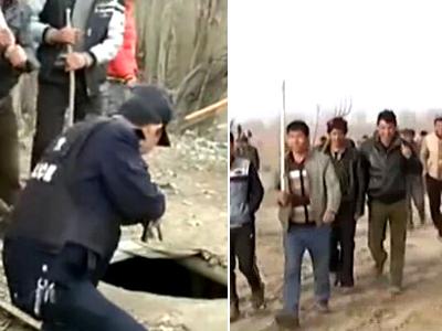 实拍新疆捕暴恐分子 上万农民骑马持农具搜山