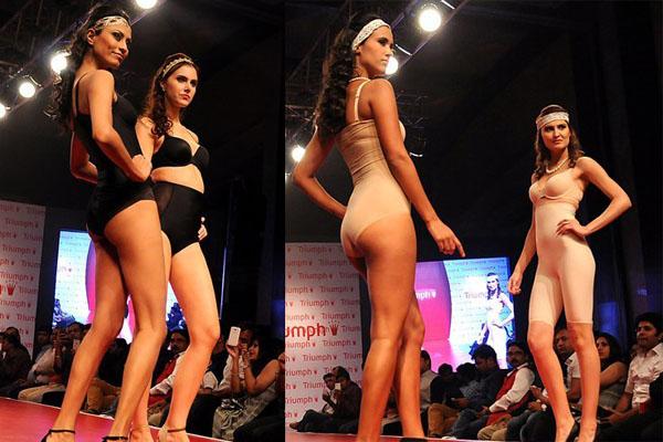 印度时装周上的东方模特