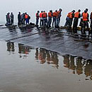 独家高清航拍沉船现场画面