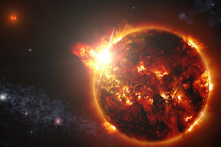 它们都是跟太阳一样的大火球啊!怎么会和地球一样是凹凸不平的呢!图片