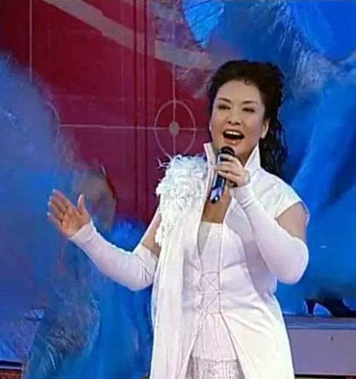 ▲ 彭丽媛在2003 年春晚演唱《世纪春雨》