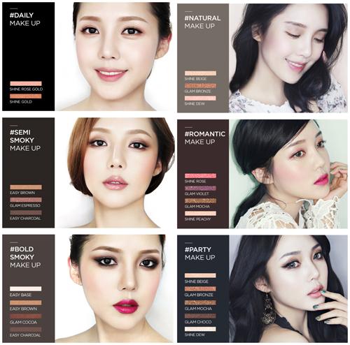 memebox×pony全新八色眼影盘升级版 打造时尚眼妆