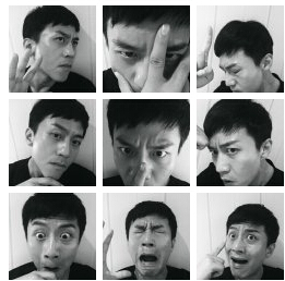 邓超秋冬男神自拍发布会 玩搞怪表情9连拍图片