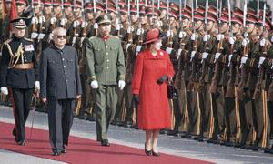 英国女王见过哪些中国领导人