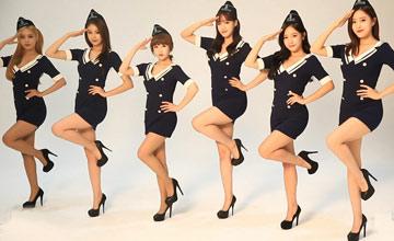 """偶像T-ara代言网游 穿上制服成""""最美舰娘"""""""