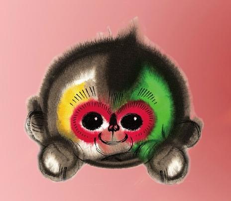 [明星爆料]春晚吉祥物设计者:猴脸上长球是腮帮鼓出来