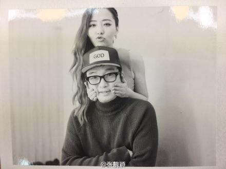 [明星爆料]张靓颖晒与冯轲合影 嘟嘴卖萌秀恩爱(图)