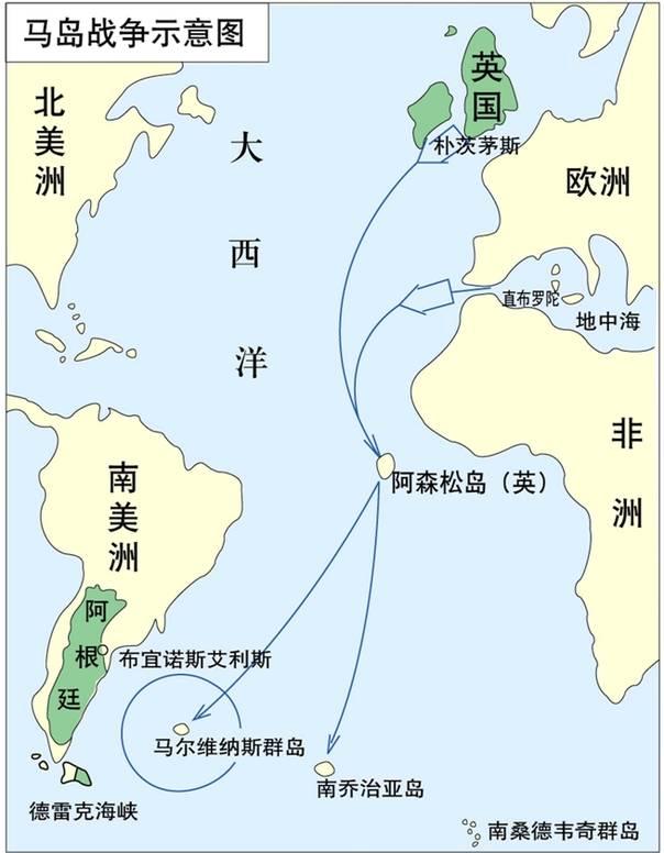 马岛战争示意图资料图-联合国宣布马尔维纳斯群岛位于阿根廷领海内