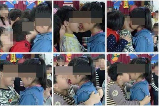 台湾:幼儿园生日会 玩男女舌传樱桃舔奶油
