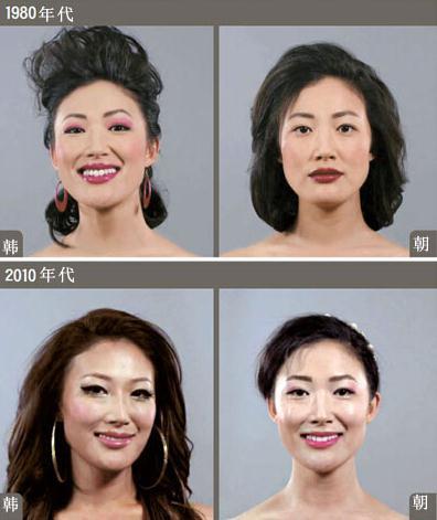 80发型朝鲜发型华丽的短发和韩国的朴素年代形成了烫过的女性长了想剪短需要重新烫吗图片