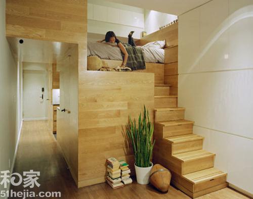 小户型卧室装修设计案例效果图四: