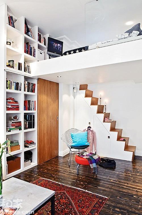 小户型卧室装修设计案例效果图五: