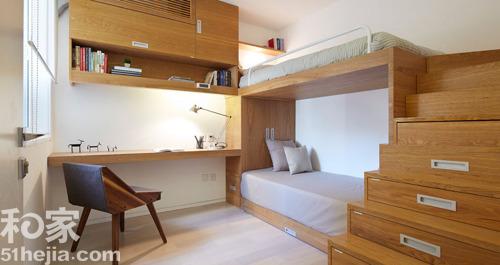 小户型卧室装修设计案例效果图六:
