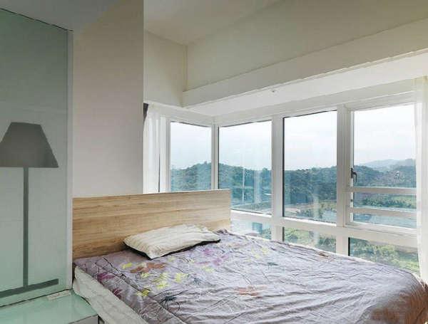 两房一厅现代简约风格装修效果图大全2014图片