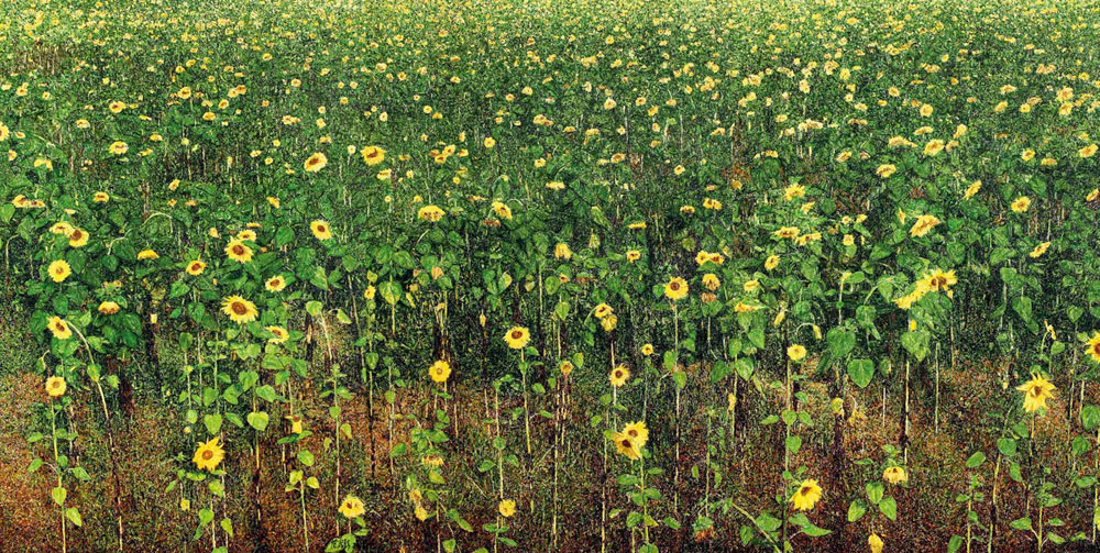 金色葵 范澎 Golden Sunflowers Fan Peng / 300cm×600cm