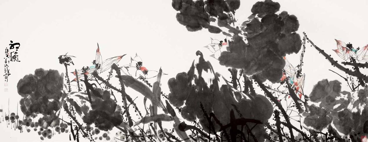 听秋 崔如琢 Listen to the Fall Cui Ruzhuo / 145cm×360cm