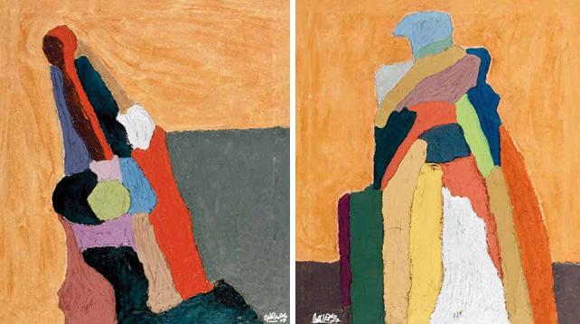 无题 默罕默德·易布拉辛·艾拉玛斯里(埃及) /  Untitled Mohamed Ibrahim Elmasry (Egypt) / 80cm×70cm×2