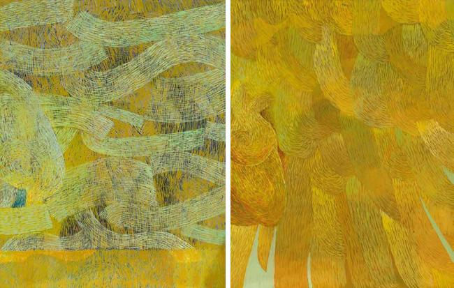 地球·心脏·翅膀 西蒙·约瑟夫·祖尔特(匈牙利) /  Earth-Heart-Wing Simon Jozsef Szolt (Hungary) / 140cm×100cm×2