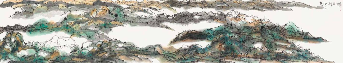 竞秀 蒋山青 /  Competition Show Jiang Shanqing / 195cm×1020cm