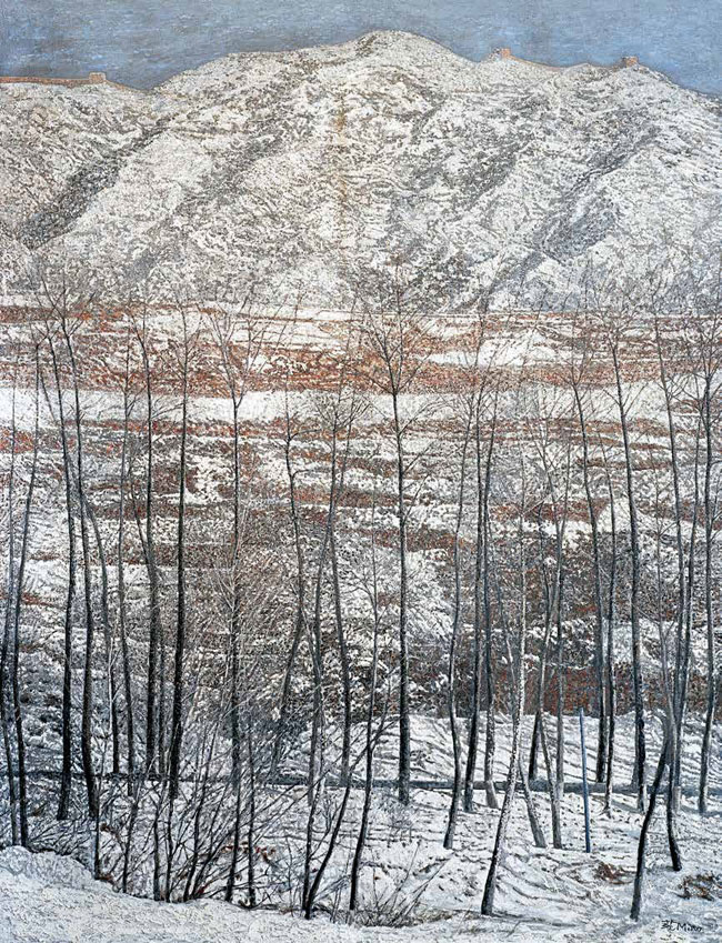山上长城 范淼 /  Great Wall on the Hill Fan Miao / 185.5cm×142.5cm