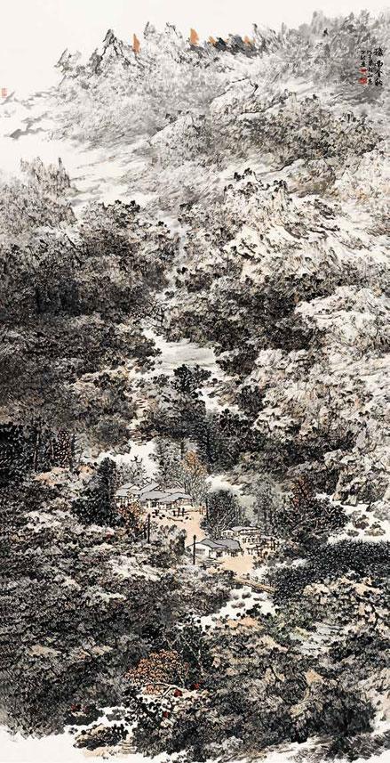 豫南金秋 李世银 /  Golden Autumn of Southern Henan Li Shiyin / 248cm×124cm
