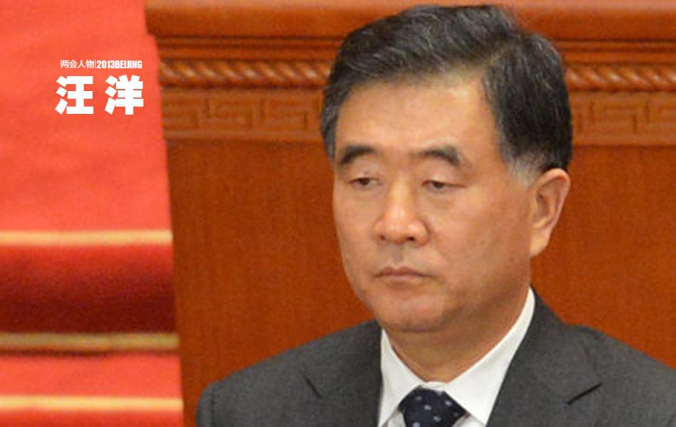 3月16日下午,第十二届全国人民代表大会第一次会议举行第六次全体会议,决定汪洋为国务院副总理。