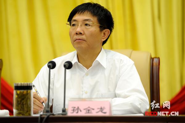会议由湖南省委副书记孙金龙主持
